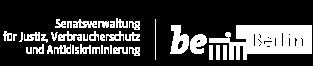 Logo Senatsverwaltung für Justiz, Verbraucherschutz und Antidiskriminierung